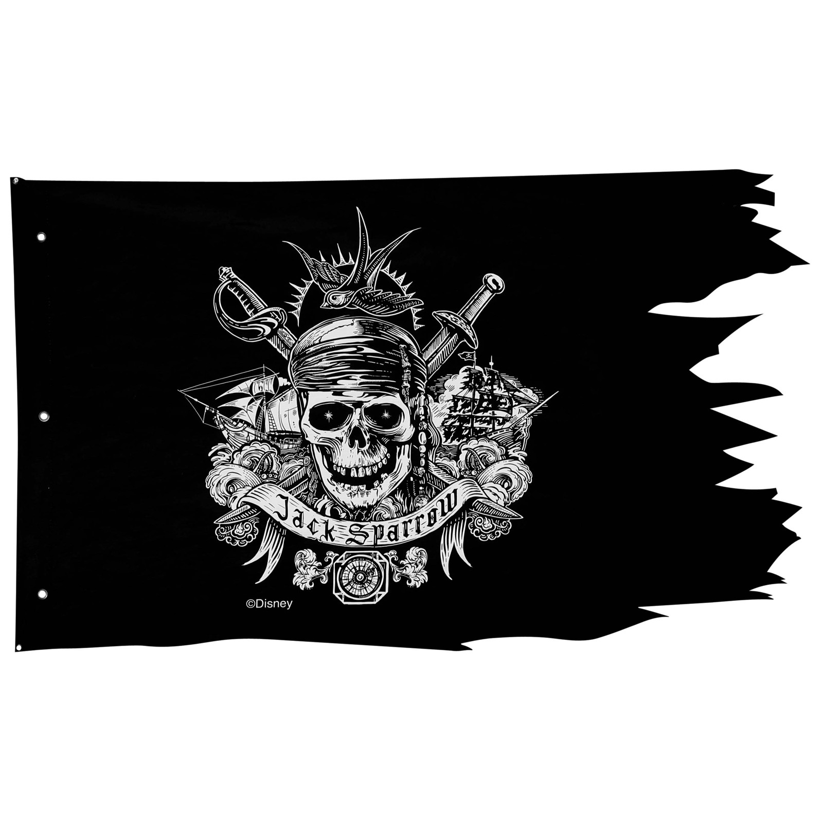 "Pirates of the Caribbean Dead Men Tell No Tales Pirate Flag Wall Decor (50"" x 30"")"