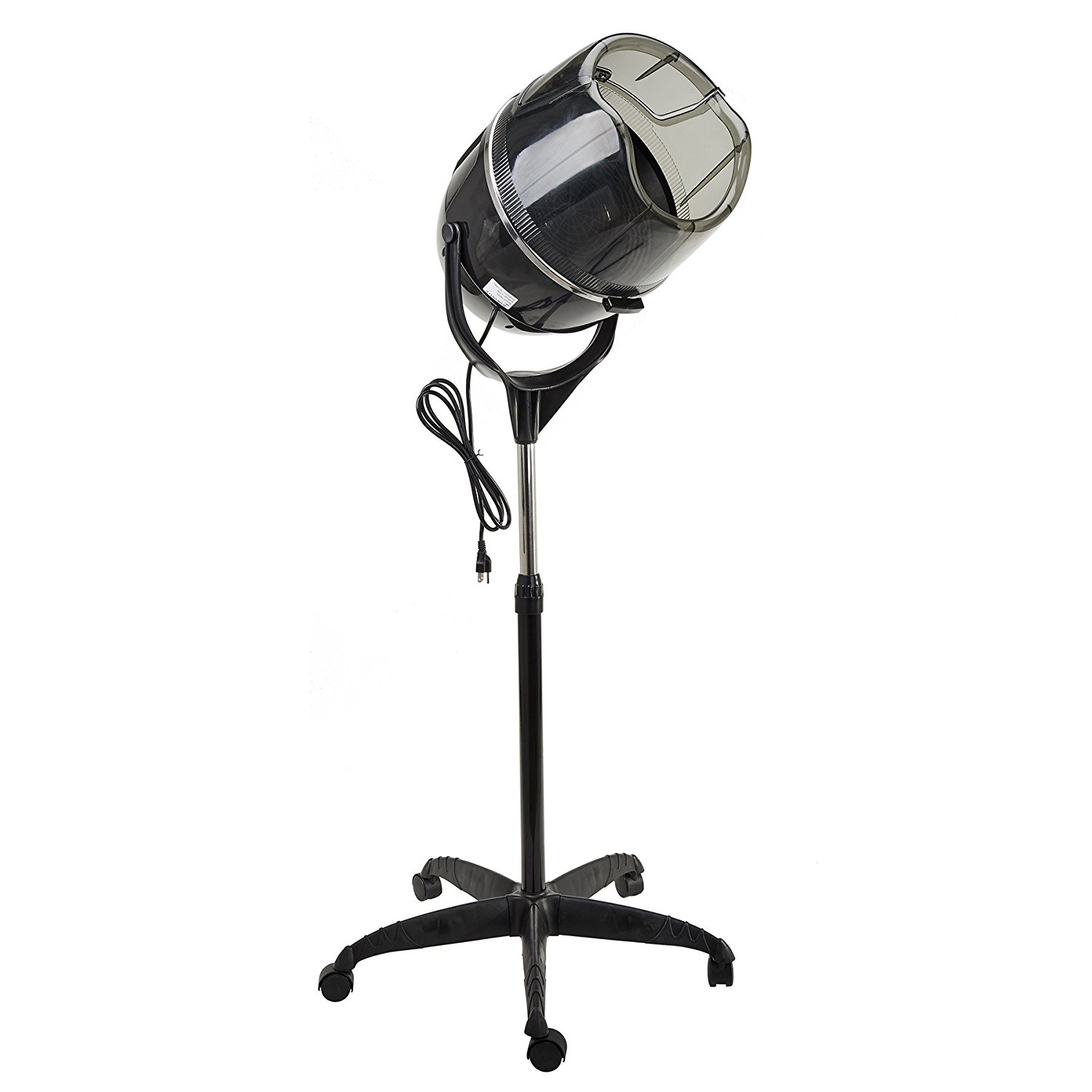 Professional Stand Up Hair Dryer 110V with Timer Swivel Hood Caster Adjustable