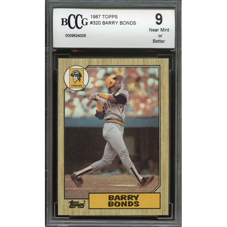 1987 Topps 320 Barry Bonds Pittsburgh Pirates Rookie Card Bgs Bccg 9