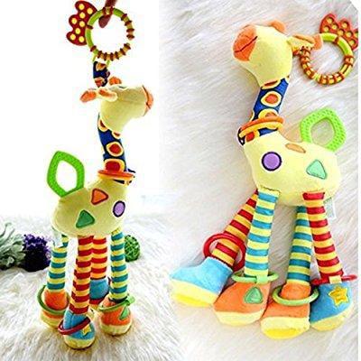 Giraffe Baby Toy - infant baby development soft giraffe animal handbells rattles handle toys lo