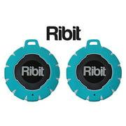 Ribit™ Red Waterproof Bluetooth Speakers - IPX7 Outdoor Wireless Speakers - Best Bluetooth Speakers for Pool and Shower - Floating Stereo Speaker Pair