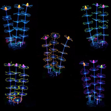 Fluorescent Coral Plant Aquarium Decoration Glow In The Dark Fish Tank
