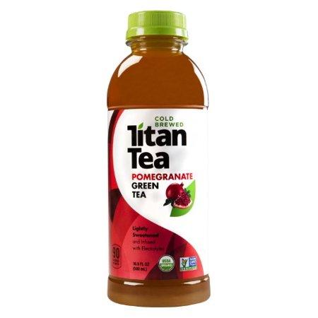 Thé vert légèrement sucré bio de thés, grenade et bleuet, 16.9 Fl Oz