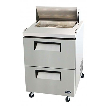 Atosa Usa Msf8309 Stainless Steel Sandwich Salad Prep Table 27 Inch Drawers Refrigerator