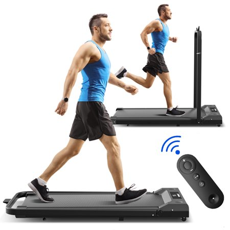 SINGES 2.25HP Foldable Electric Treadmill Family Treadmill with LCD Display and Pad Holder Motorized Running Jogging Machine Easy Assembly Fitness Exercise Equipment for Home Gym Office