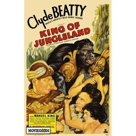 1936 Replica Sky King - King of Jungleland (1936) Laminated Movie Poster Print 24 x 36