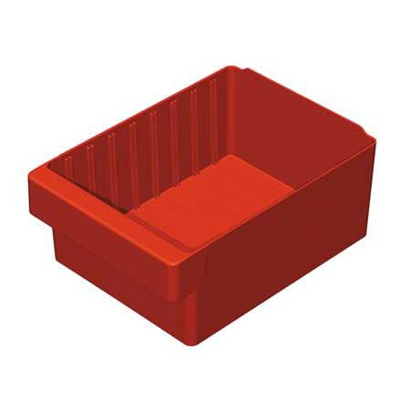 Akro-Mils 20 Lb Capacity, Drawer Bin, Red 31182RED