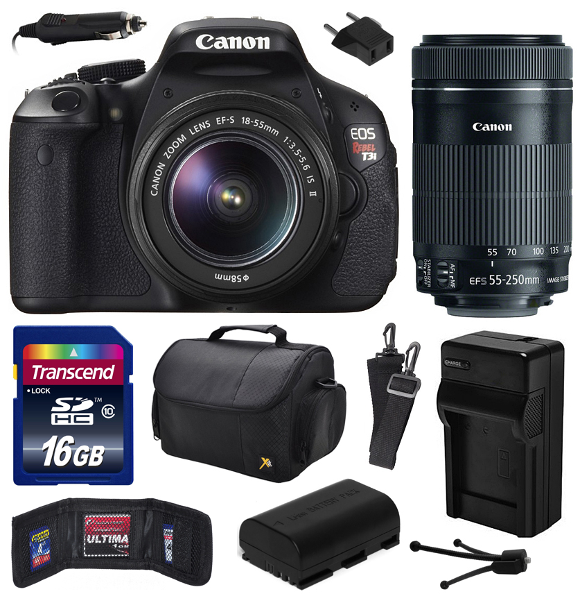 Canon EOS Rebel T3i Digital SLR Camera with EF-S 18-55mm ...
