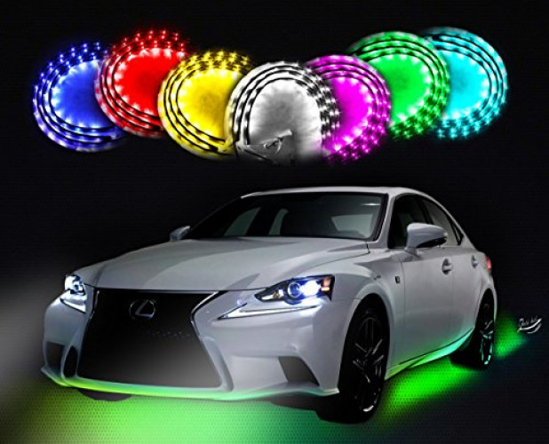 Zento Deals 7 Colors LED Undercar Glow Underbody System Neon Lights Kit 36  x 2  sc 1 st  Walmart.com : underbody lighting - www.canuckmediamonitor.org