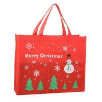 KABOER Christmas Red Christmas Gift Bag Candy Bag Snowflake Christmas Dessert Cookie Bag