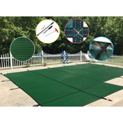 WaterWarden Mesh Safety Pool Cover With Left Side Step