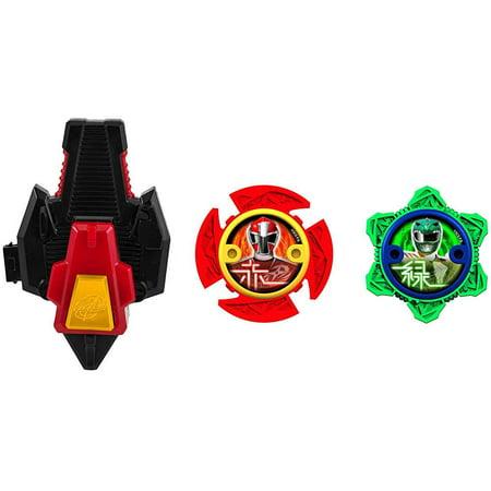 Power Rangers Power Up Green & Red Ninja Power Star 2-Pack with Launcher](Ninja Stars Paper)