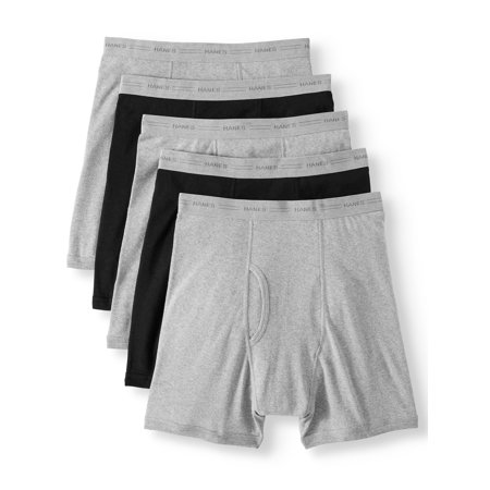 Hanes Big Men's SUPER VALUE FreshIQ Comfortflex waistband Boxer Brief 5 (5 Value Pack)