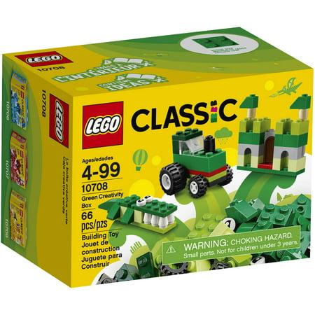 LEGO Classic Creativity Box, Green 10708 (66 Pieces)