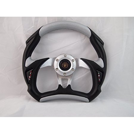 CLUB CAR PRECEDENT steering wheel golf cart W/ billet polished Adapter 3 spoke