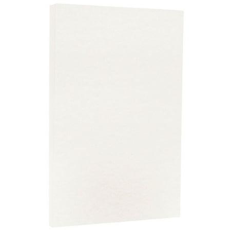 JAM Paper Parchment Legal Size Cardstock, 8.5 x 14, 65 lb White, 50