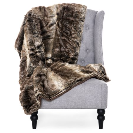 Best Choice Products 47x80in Faux Fur Throw Lounge Blanket for Living Room Couch, Bedroom,