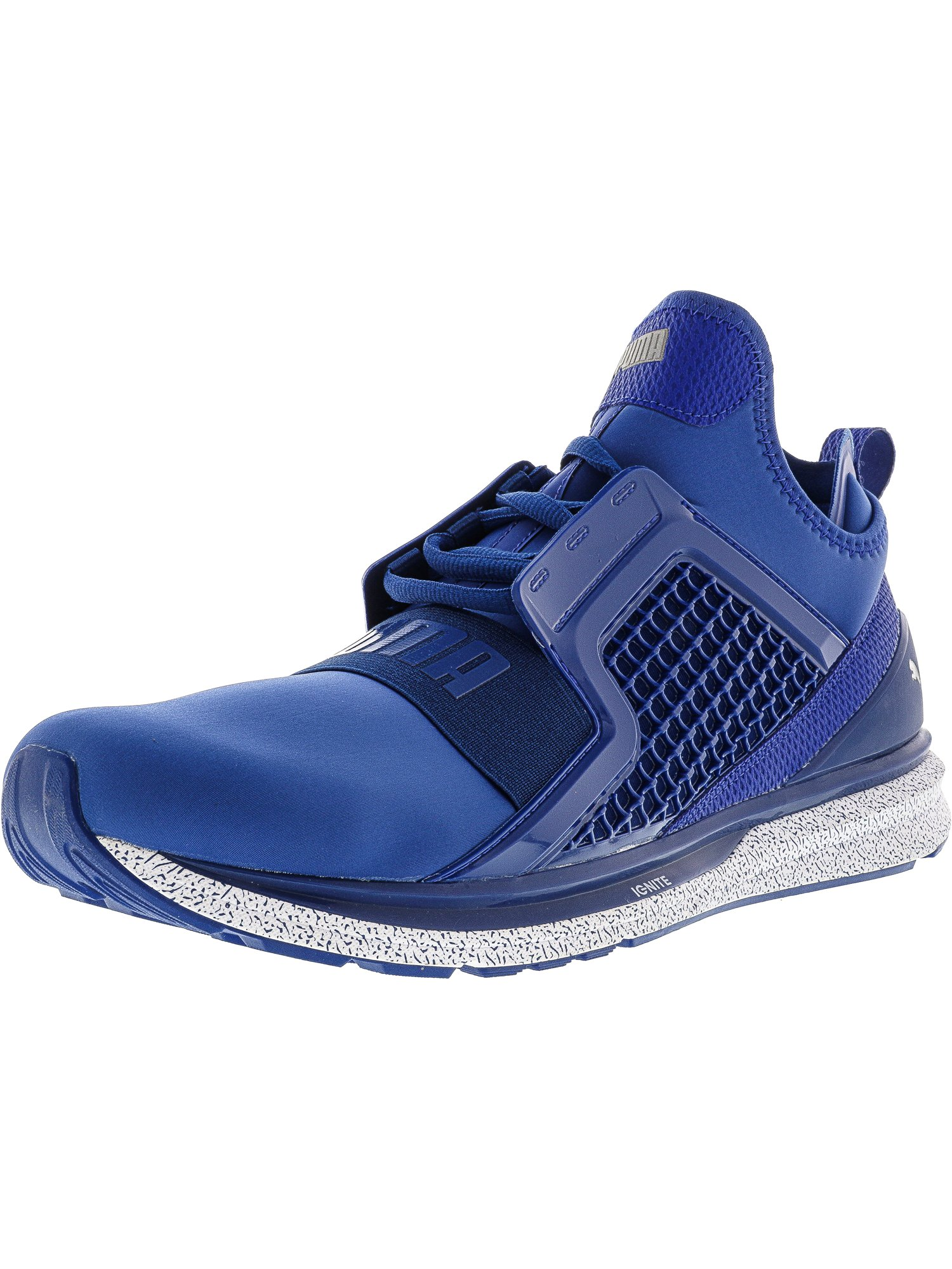 Puma Men's Ignite Limitless True Blue Ankle-High Basketball Shoe 13M by Puma