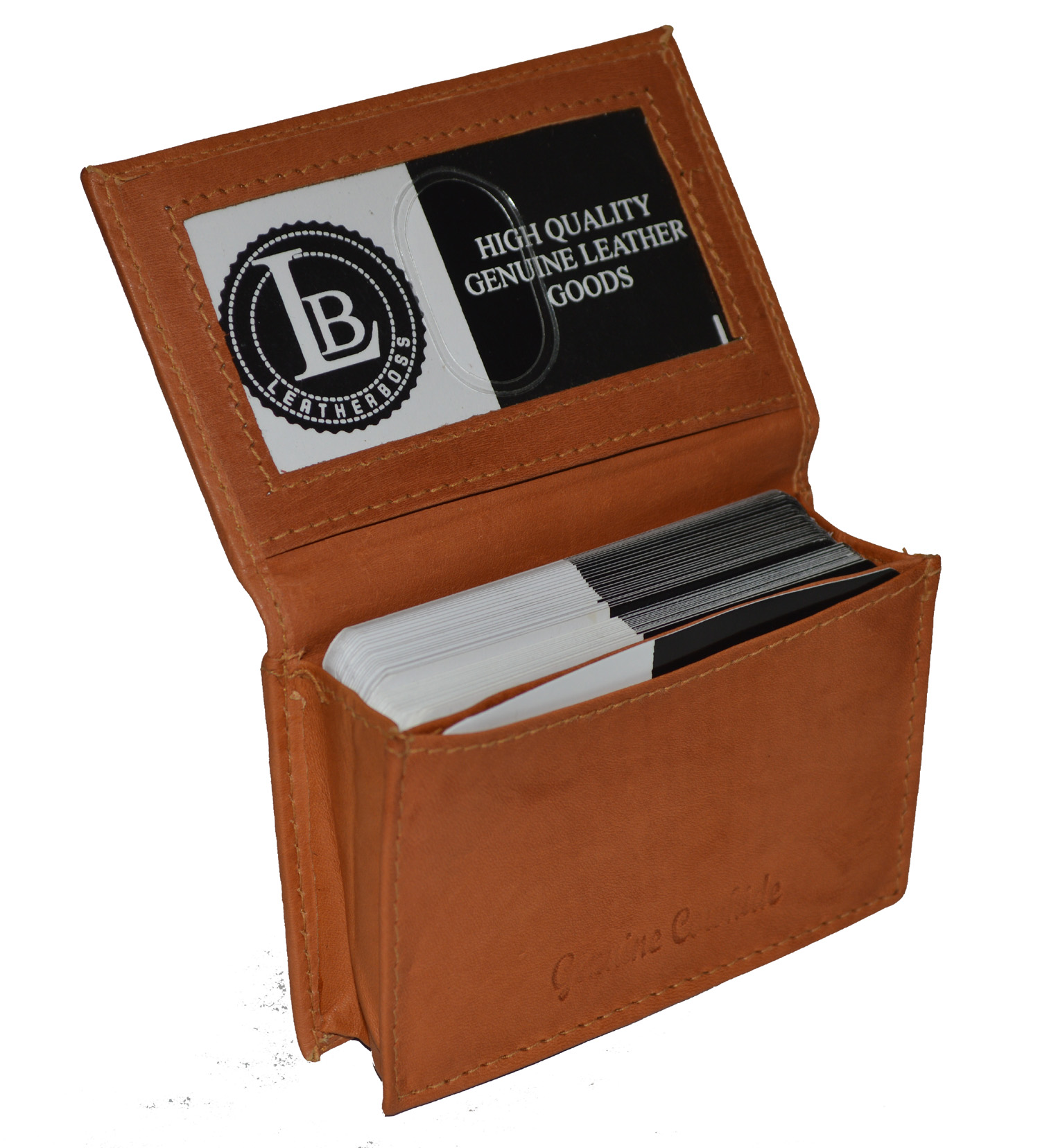 BUSINESS CARD ID HOLDER MONEY EXPANDABLE Pocket by Leatherboss