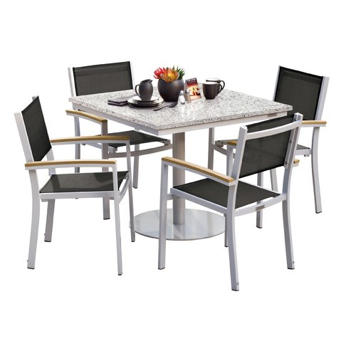 Sol 72 Outdoor Rosenfeld 5 Piece Dining Set with Sling Seat Chairs