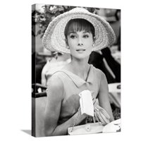 """Audrey Hepburn. """"Paris When It Sizzles"""" [1964], Directed by Richard Quine. Stretched Canvas Print Wall Art"""
