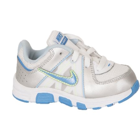 Nike Baby Girls Shoes T Run 5 Td First Walkers White Silver Blue Green