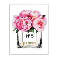 The Stupell Home Decor Collection Glam Paris Vase with Pink Peony Oversized Wall Plaque Art