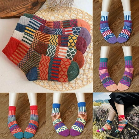 New Fashion Warm Autumn Winter Womens Mens Wool Cashmere Cotton Socks Ladies Soft Multi-color Casual Socks Hot Sale ! ! (Cotton Wool Socks)