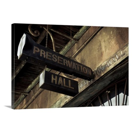Great BIG Canvas Preservation Hall in the French Quarter Canvas Wall Art (Great Hall Canvas Art)
