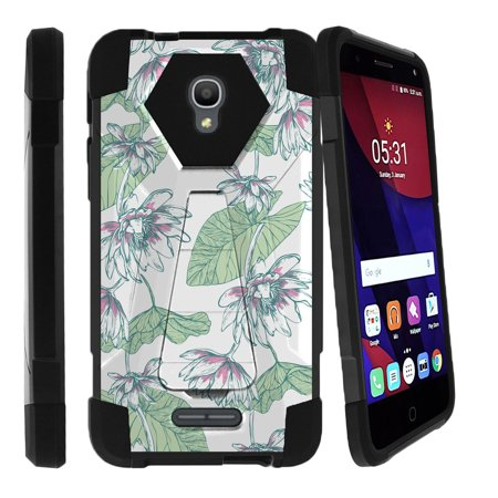 Alcatel One Touch Fierce 4 and Pop 4 Shock Fusion Heavy Duty Dual Layer Kickstand Case -  Fresh (Garden Kiosk)