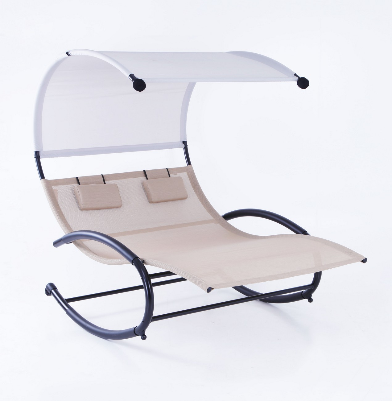 Belleze Double Chaise Rocker Patio Furniture Chair Canopy Pool