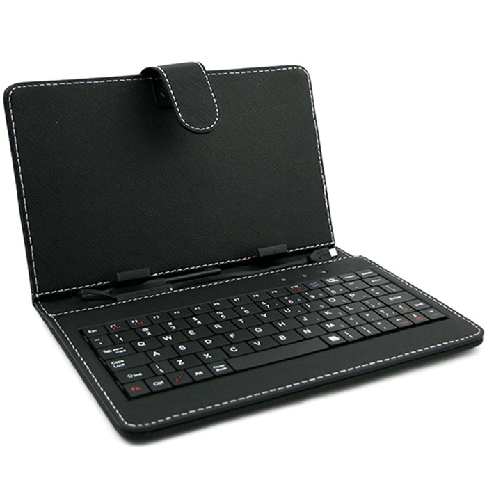 Felji 10 Inch Keyboard Leather Case for Android Tablet with OTG Cable