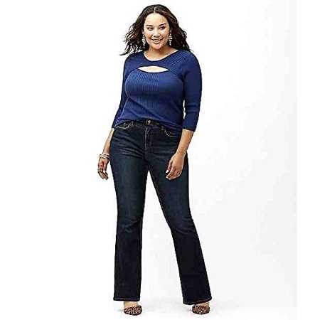 Jack David Extended Womens Plus Size Blue Denim Jeans Tall Long Tummy Technology