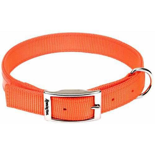 "Remington Reflective Orange Double Ply Safety Dog Collar, 22"""