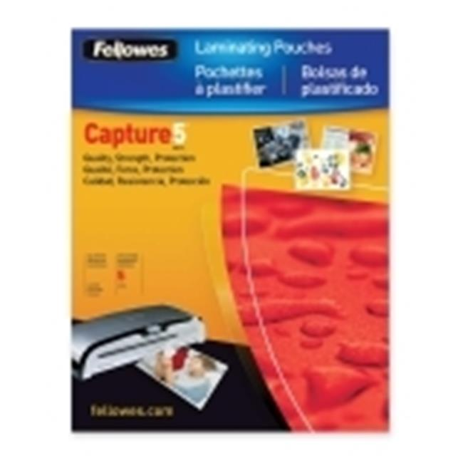 FELLOWES 52010 Fellowes,Laminating Pouch,Glossy 4x6 Photo,25pk