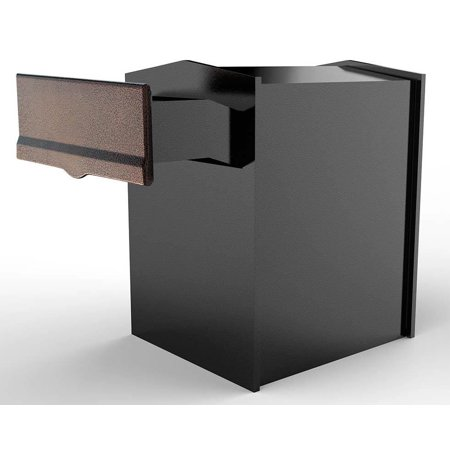 Rear Access Letter Box.Rear Access Collection Box With Copper Letter Plate