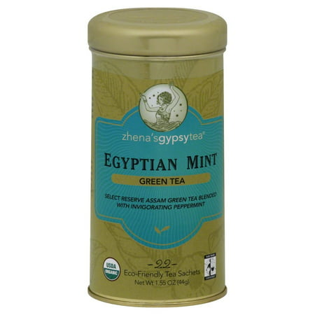 Zhena's Gypsy Tea Organic Egyptian Mint - 22 Bags