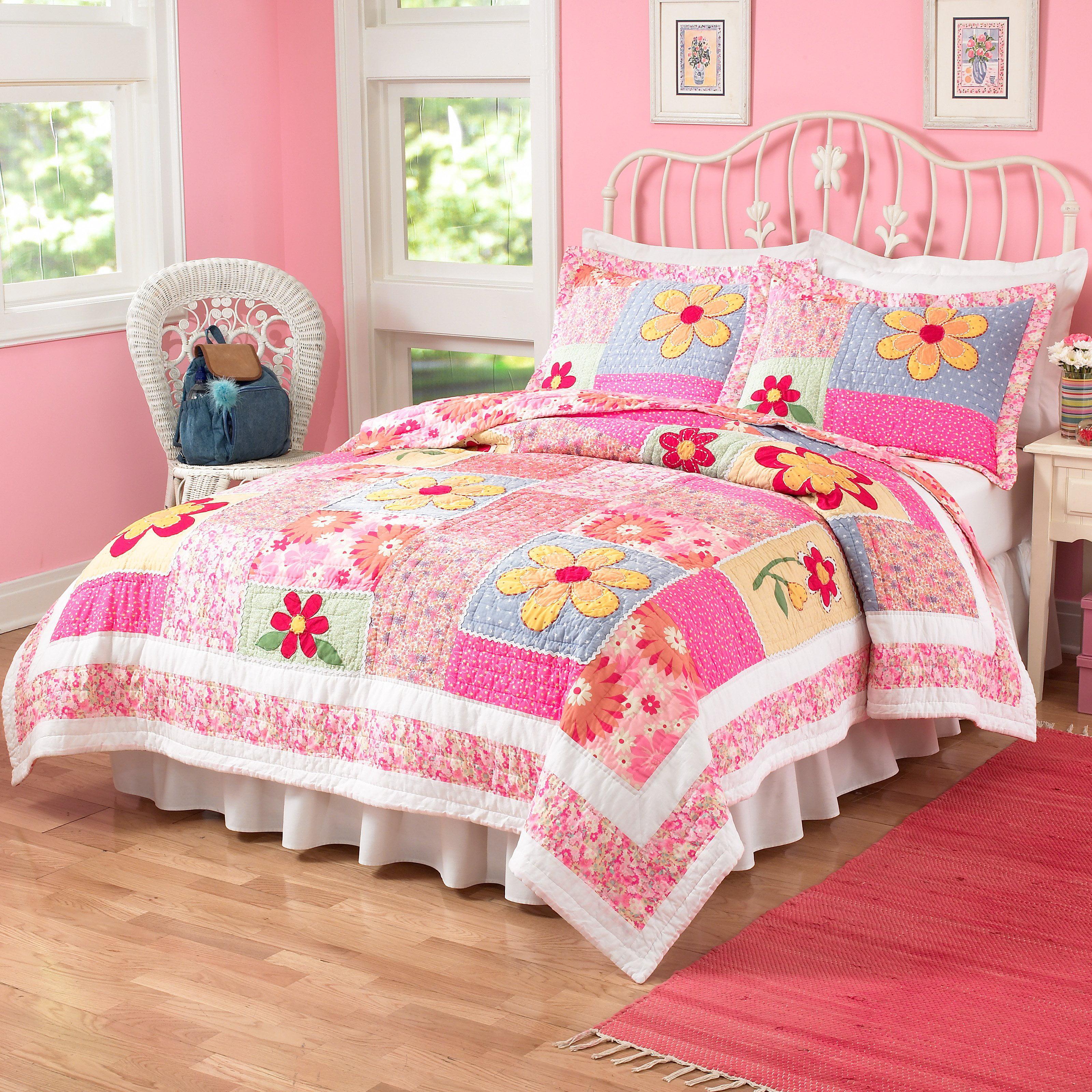 My World Olivia Pink Quilt Set Walmart Com Walmart Com