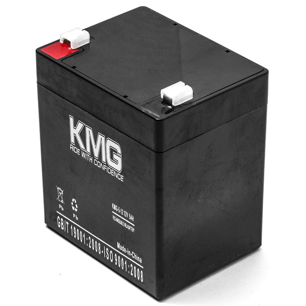 KMG 12V 5Ah Replacement Battery for GS Portalac PE12V4.5F1 PE12V5F1 PE412R PE412RF1