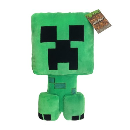 MineCraft Plush Creeper Pillow Buddy, 1 Each - Minecraft Room Decorations