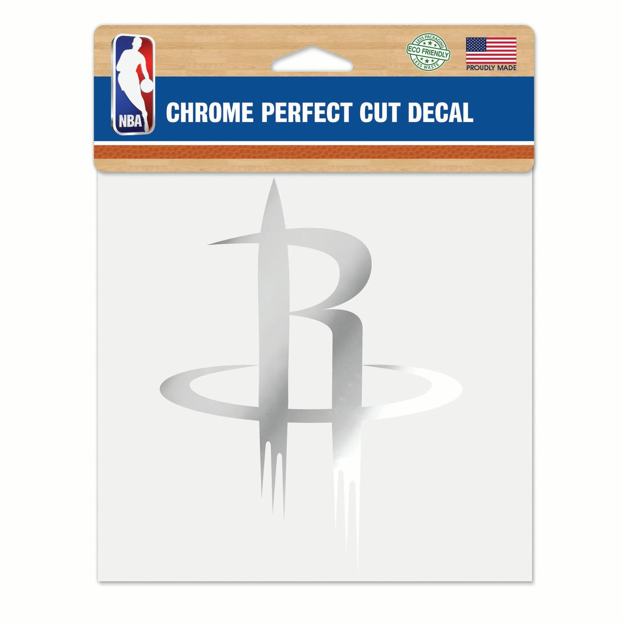 "Houston Rockets WinCraft 6"" x 6"" Chrome Decal - No Size"