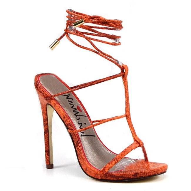 Luichiny Shoes Her Story Coral Strappy Stiletto Sandals~Coral   9 by