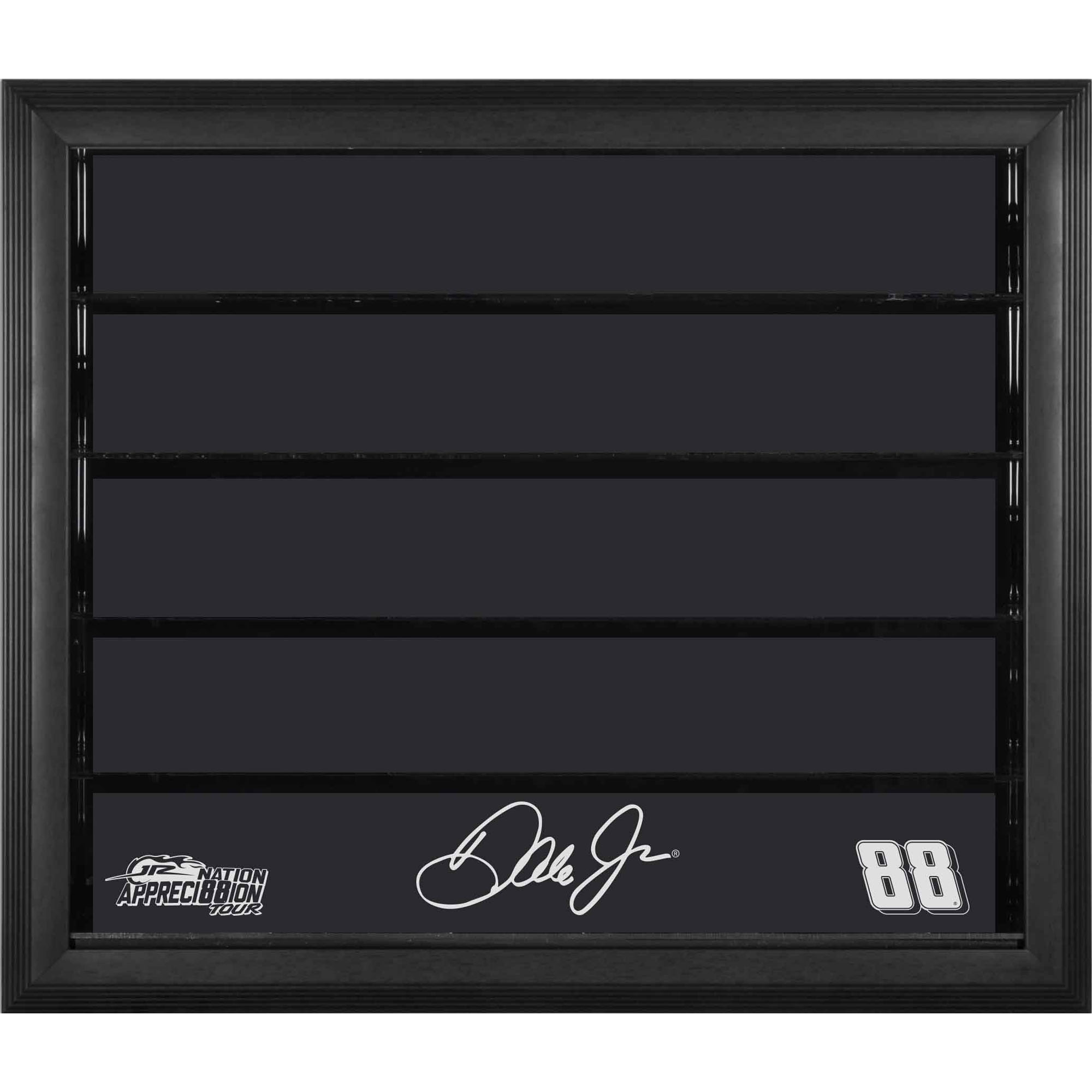 Dale Earnhardt Jr. Fanatics Authentic #88 Black Frame 10 Car 1/24 Scale Die Cast Display Case with JR Nation Appreci88ion Logo - No Size