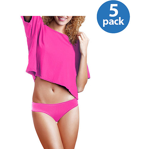 No Boundaries Juniors Cotton Bikinis 5-Pack