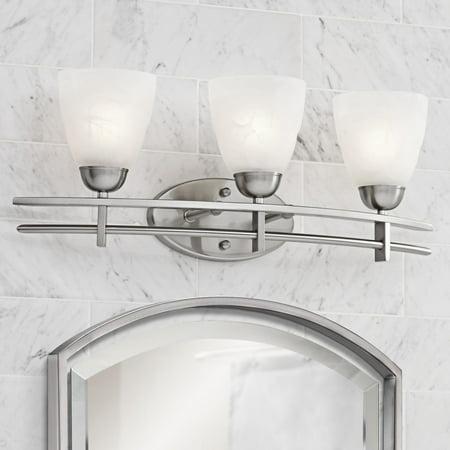 "Possini Euro Design Possini Euro Deco 23 1/2"" Wide Brushed Nickel Bath Light"