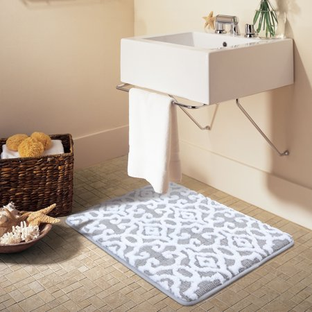 - Better Homes & Gardens Jacquard Memory Foam Bath Rug, 20