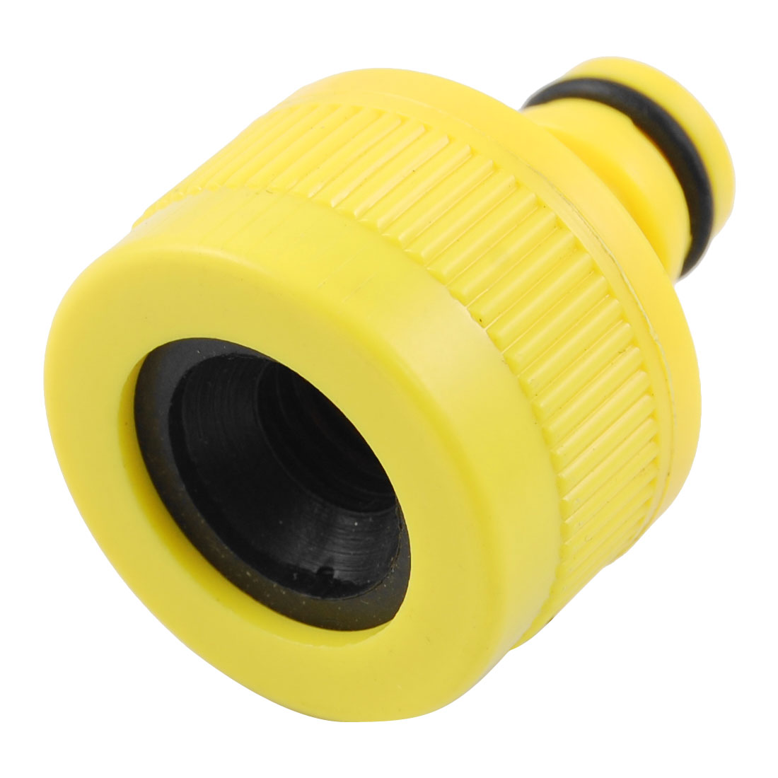 "Unique Bargains 33/64"" Dia Female Thread Yellow Garden Spray Hose Nozzle Adapter"