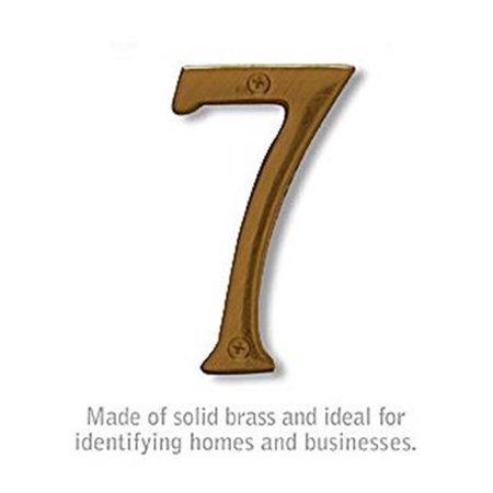 Salsbury 1230A-7 Solid Brass Number - 7, Antique Finish - 6 in. - image 1 of 1
