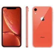 Straight Talk Apple iPhone XR, 64GB, Coral - Refurbished Prepaid Smartphone [Locked to Carrier - Straight Talk]