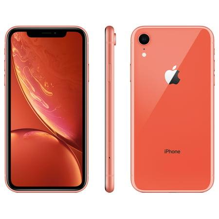 the latest 20ac3 712e2 Straight Talk Apple iPhone XR w/64GB Prepaid Smartphone, Coral